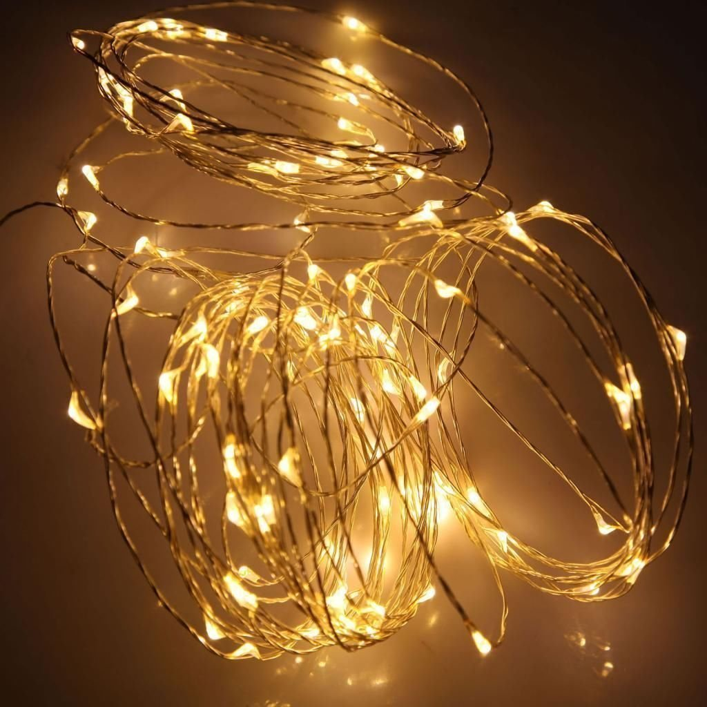 Charming Outdoor Christmas Lights Battery Part - 12: Mrdigital Angelina 2 Of 5M 50 LEDs Battery Powered String Lights Silver  Wire Fairy Lights Christmas Decoration Indoor Use Warm White: Amazon.co.uk:  Kitchen ...