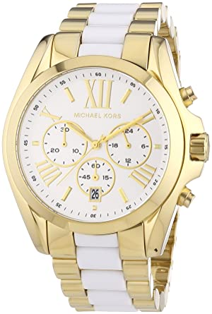 3995b65fe Image Unavailable. Image not available for. Color: Michael Kors Women's  Bradshaw Chronograph Watch, Gold ...