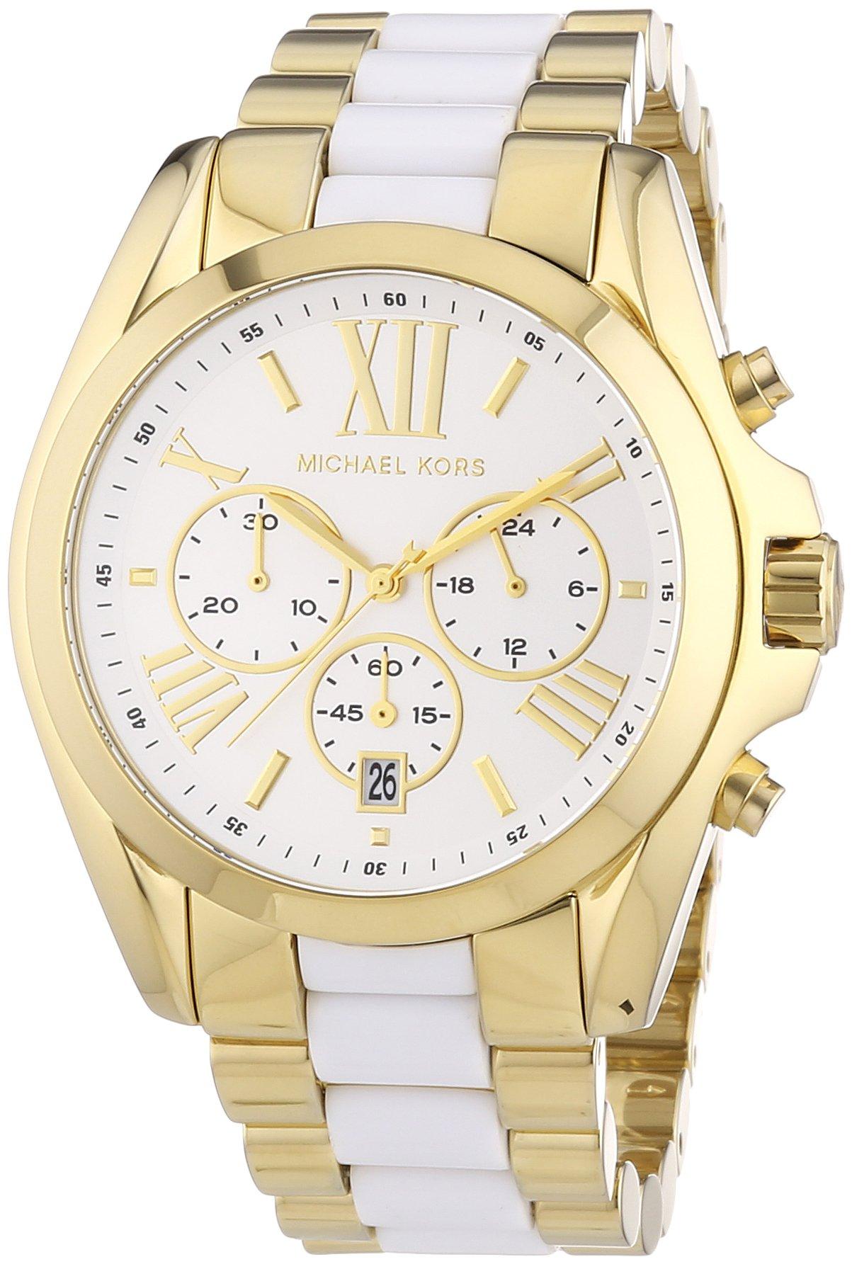 Michael Kors Women's Bradshaw Chronograph Watch, Gold, One Size by Michael Kors