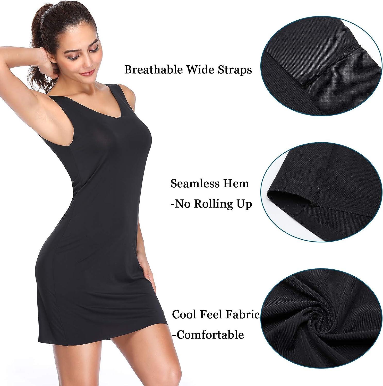 Joyshaper Full Dress Slips for Women Seamless Black Nude Beige Long Camisole Bodycon Underwear Dress Underdress Underskirt Pettiskirt Nightdress Nightwear