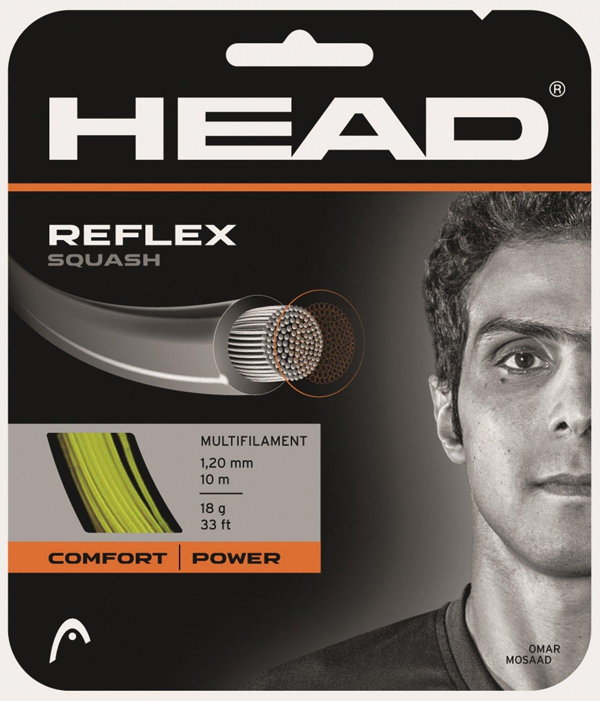 Cabeza raqueta de Squash (Reflex Set–Amarillo Head