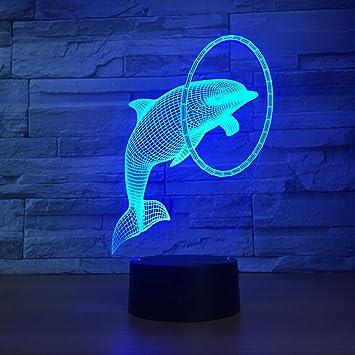 Led Modélisation 3d De Night Light Lampe Dolphin Chevet n0X8wkNOPZ