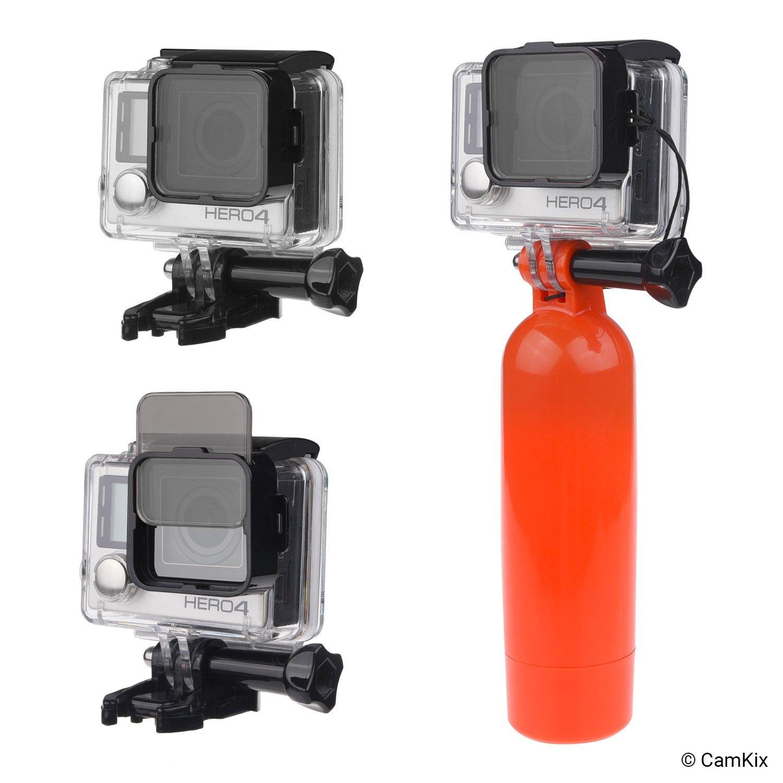 4 Filtri a Densit/à Neutra si Incastrano nell/'alloggiamento impermeabile ND2//ND4//ND8//ND16 CamKix Pack Filtri Cinematografici Compatible con GoPro HERO 4//3+