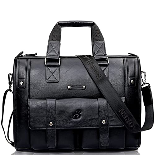 f4926274b5fb cool leather mens large travel bag vintage briefcase shoulder bag ...
