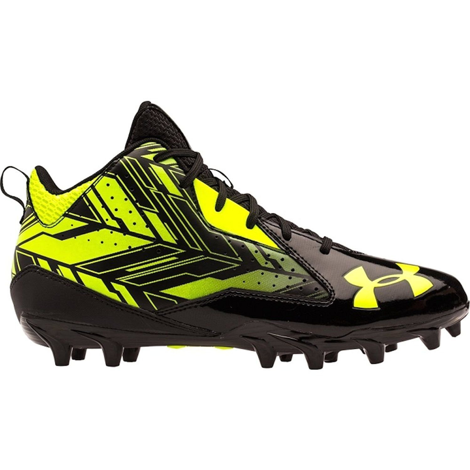Under Armour Ripshot Mid MC Men's Lacrosse Cleats (7.5, Black) by Under Armour