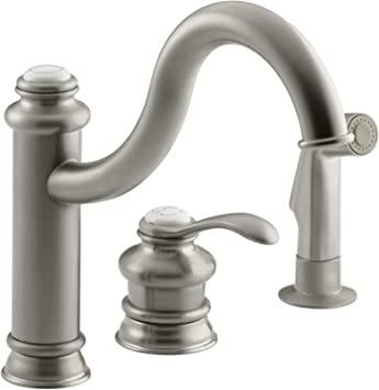 Kohler K 12185 Bn Fairfax Single Control Remote Valve Kitchen Sink Faucet Vibrant Brushed Nickel Touch On Kitchen Sink Faucets Amazon Com