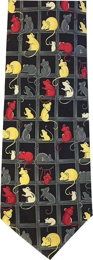 The Tie Studio Novedad corbata con ratones y ratón de diseño ...