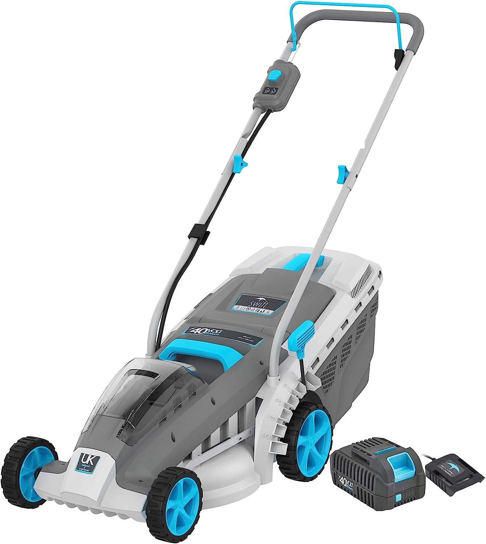 40V Cordless Lawn Mower, 18Inch Brushless Lawn Mower, (1