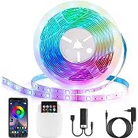 Mafiti Tiras LED, Sincronización de música Bluetooth, control de aplicaciones, 5M 5050 con Control Remoto de 44 Botones…