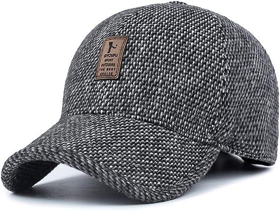 VoilaLove, gorra de béisbol para hombre hecha de lana con lana y ...