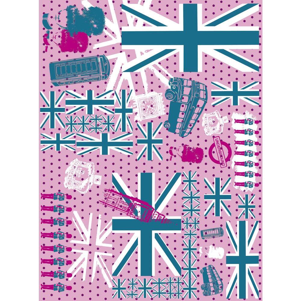 Pack of 3 Sheets d/écopatch Purple Peacock Print Paper 30 x 40 cm