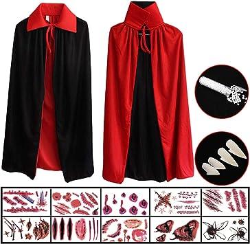 Hook Capa Negra Roja Niño, Disfraz Halloween Niño, Capa Vampiro ...