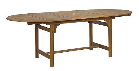 Tavolo Da Esterno Legno Allungabile.Tavolo In Legno Ovale Da Esterno Allungabile 160 X 110 X220 Cm