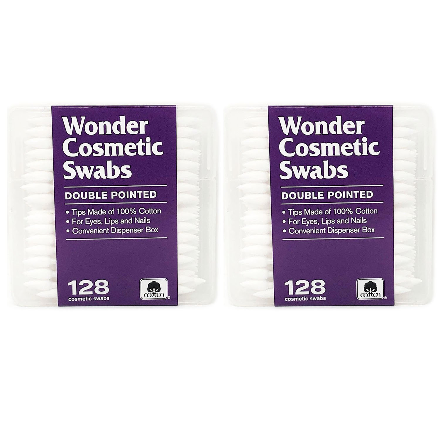 Cosmetic Swabs Double Sided Cotton Swabs from Wonder Wedge 2 Pack 256 Count