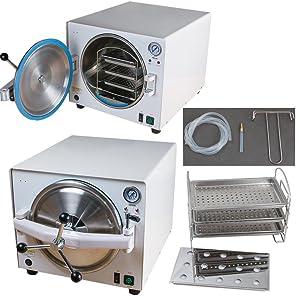 ALKITA 18L Lab Autoclave Sterilizer Vacuum Dry Heat Steam Mini Thermal LK-D15 110V