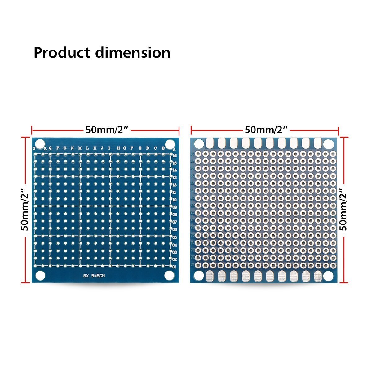 Urbest Universal Circuit Pcb Board Single Side Small Prototype 17pcs Kit Prototyping Printed Breadboard Tinned 5 X Cm 197 Blue 20pack Industrial