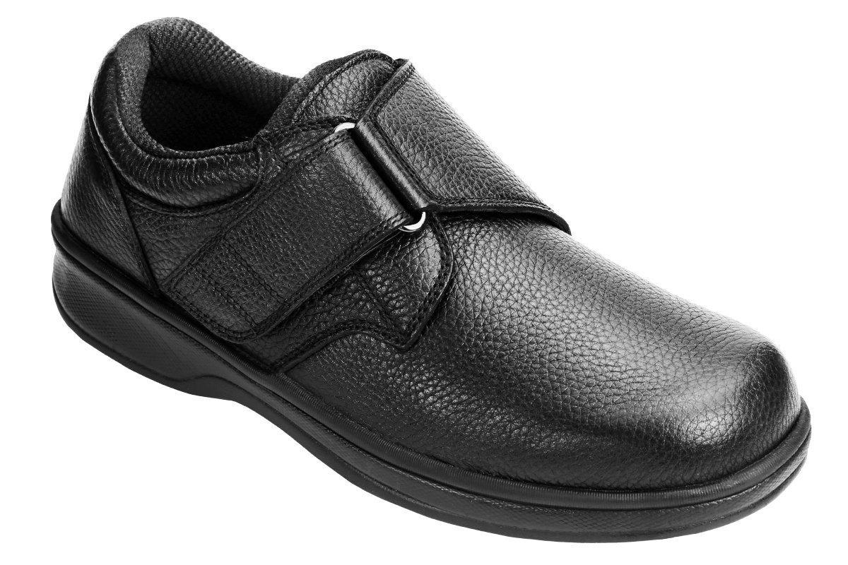 Orthofeet Broadway Arthritis Orthopedic Diabetic Extra Extra Wide Mens Shoes Black Leather 12 XXW US