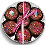 Happy Birthday Chocolate Dipped Oreo Cookies Gift   Olde Naples Hand Decorated Oreo Cookies   Gift Basket 7pc Oreo…