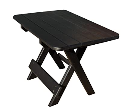 Phat Tommy Recycled Poly Resin Folding Side Table U2013 Durable U0026 Eco Friendly  Patio Furniture