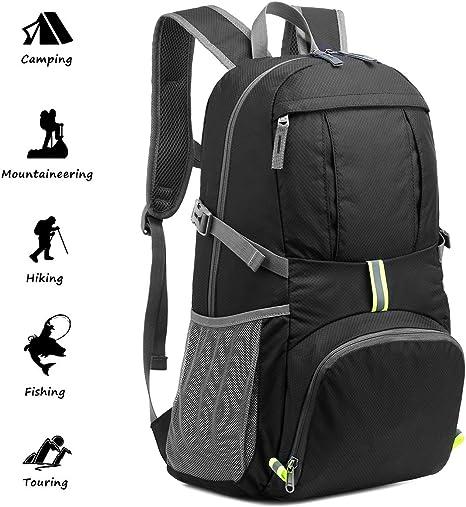 40L Lightweight Foldable Backpack Sports Hiking Bag Camping Rucksack Waterproof