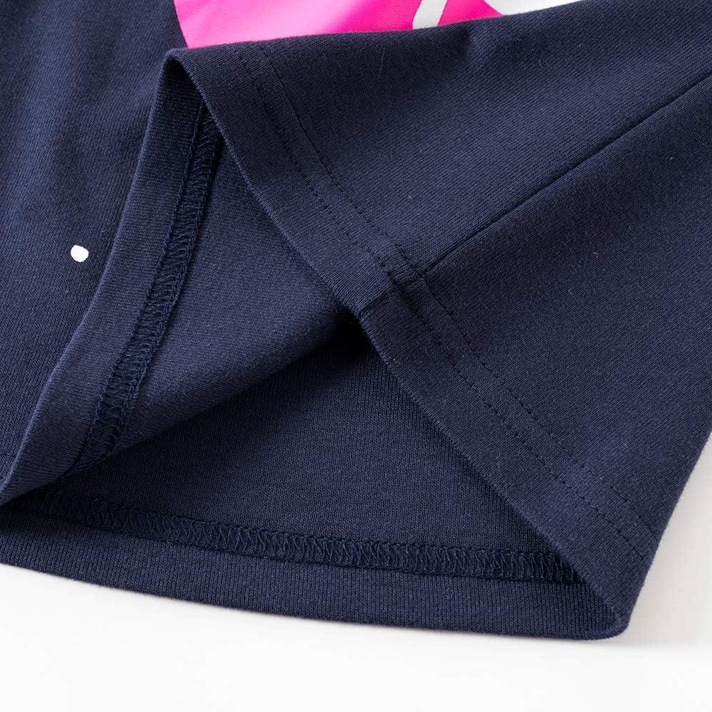 MIXIDON Bambine 2 Pezzi Pigiama a Maniche Lunghe per Ragazze Pajama Set 100/% Cotone 2-10 Anni