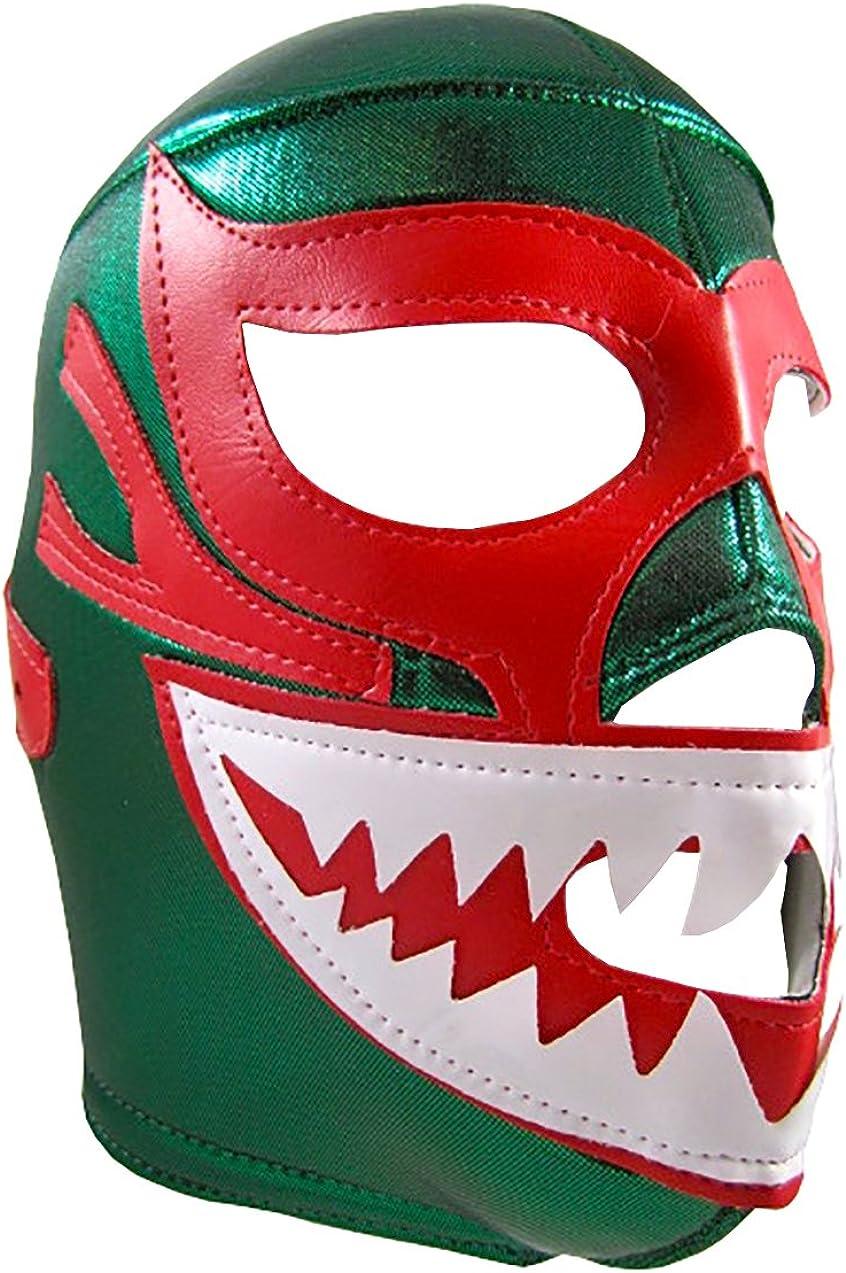 MIL MASCARAS SHARK Adult Lucha Libre Wrestling Mask (pro-fit) Costume Wear - Green