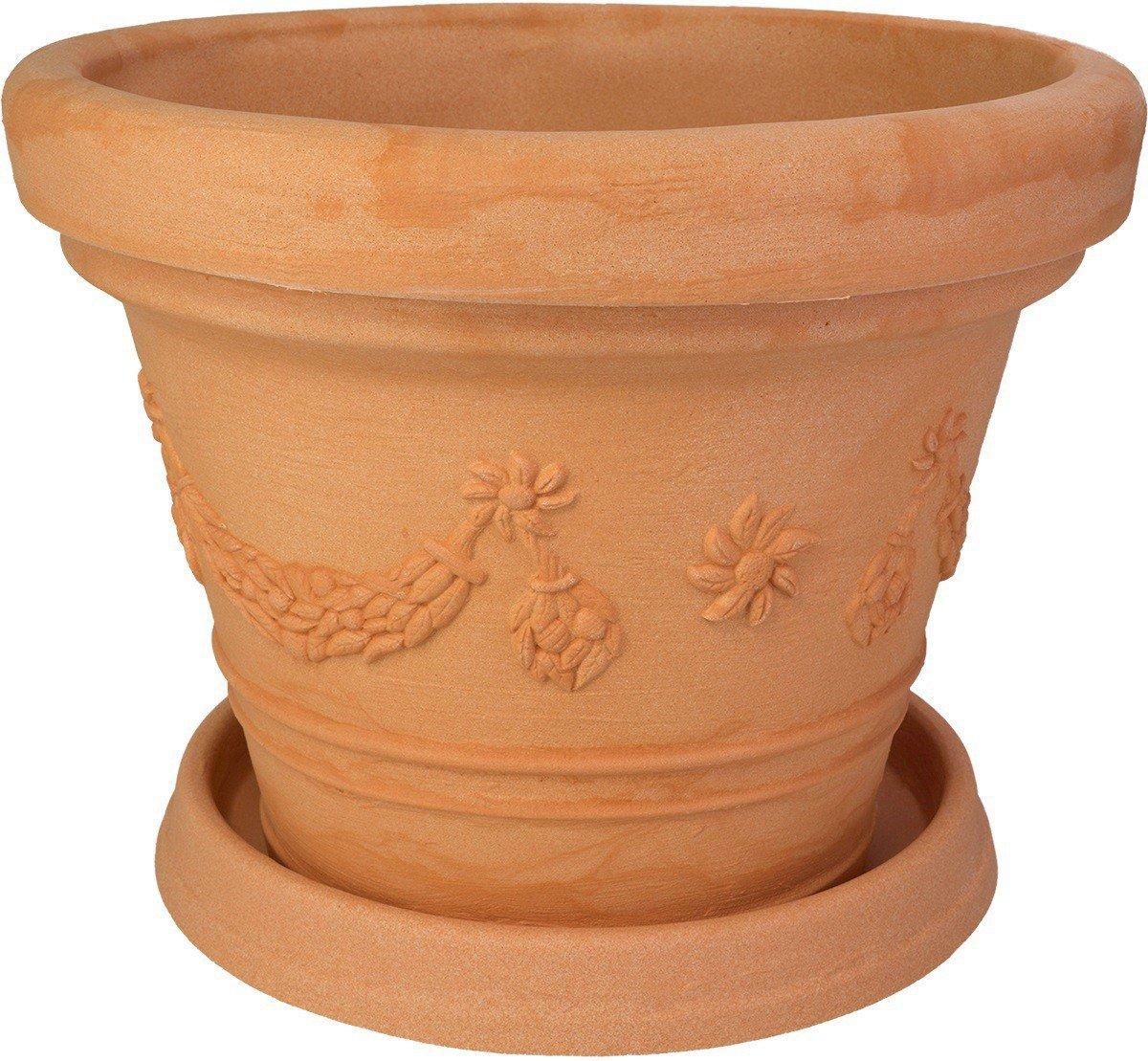 Blumenkübel Roma 70cm mit passendem Untersetzer Marcella 56cm in Impruneta