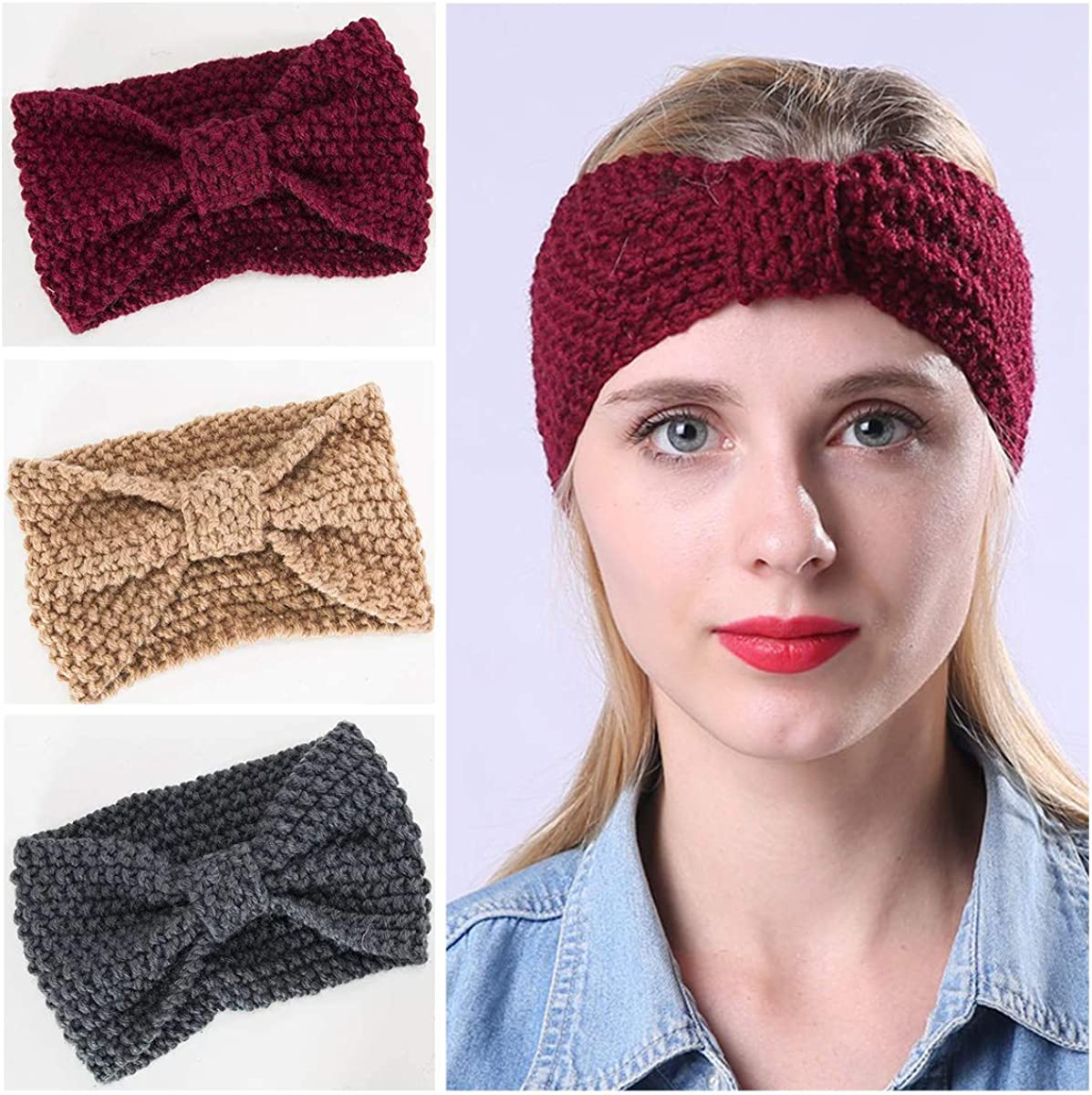 3 Pcs Ear Warmers Headbands...