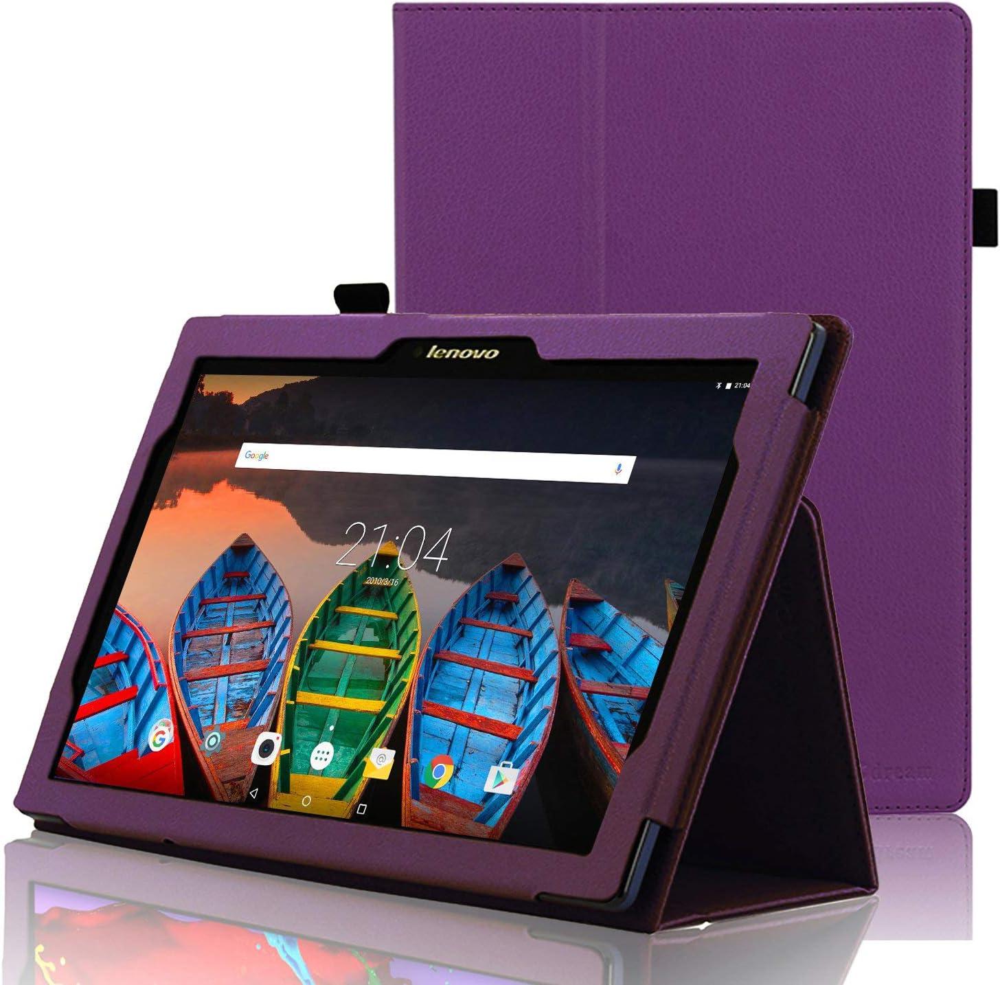 ACdream Lenovo Tab 2 A10 & Lenovo Tab3 10 Business Case, Folio Leather Cover Case for Lenovo Tab2 A10-70 / Tab2 A10-30 / TAB-X103F Tab 10 / Tab3 10 Business Tablet, Dark Purple