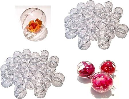 CRYSTAL KING Lot de 10 boules en acrylique transparent divisible 10 cm