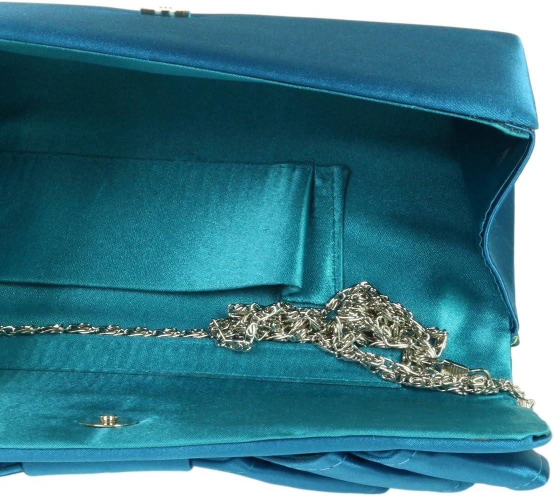 Girly Handbags Satin Clutch Bag Pleats Events Occasions Shoulder Elegant Retro Colors Wedding Bride Prom