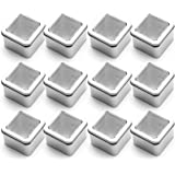 Tosnail 5 oz. Clear Top Square Empty Tin - Great for Store Spices, Candies, Tea or Gift Giving, Pack of 12