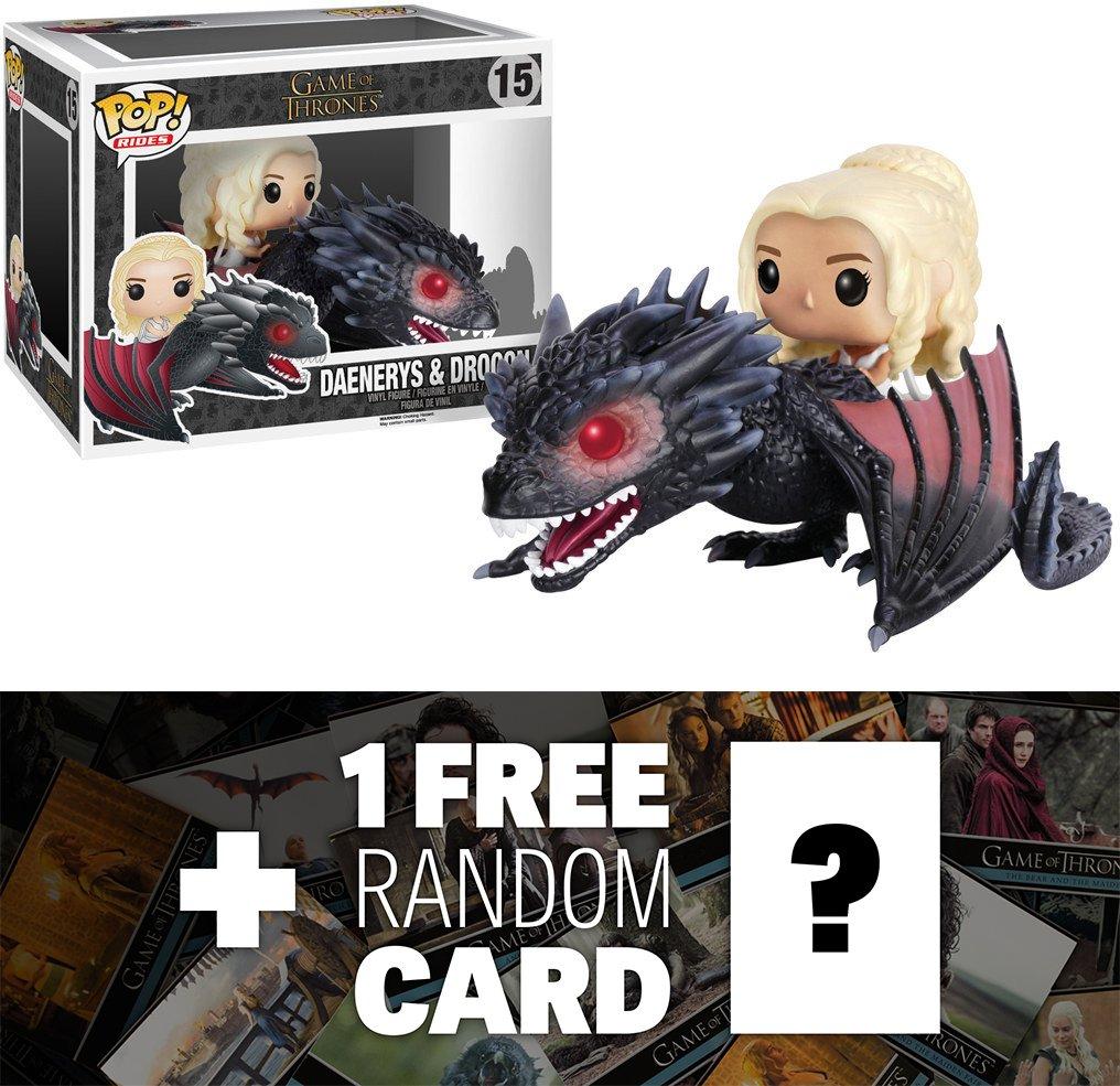 Daenerys & Drogon: Funko POP Rides x Game of Thrones Vinyl Figure + 1 FREE Official Game of Thrones Trading Card Bundle [72353] B01CDAKCZC