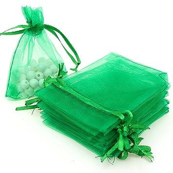 Dealglad - 100 bolsas de organza con cordón para regalos de ...