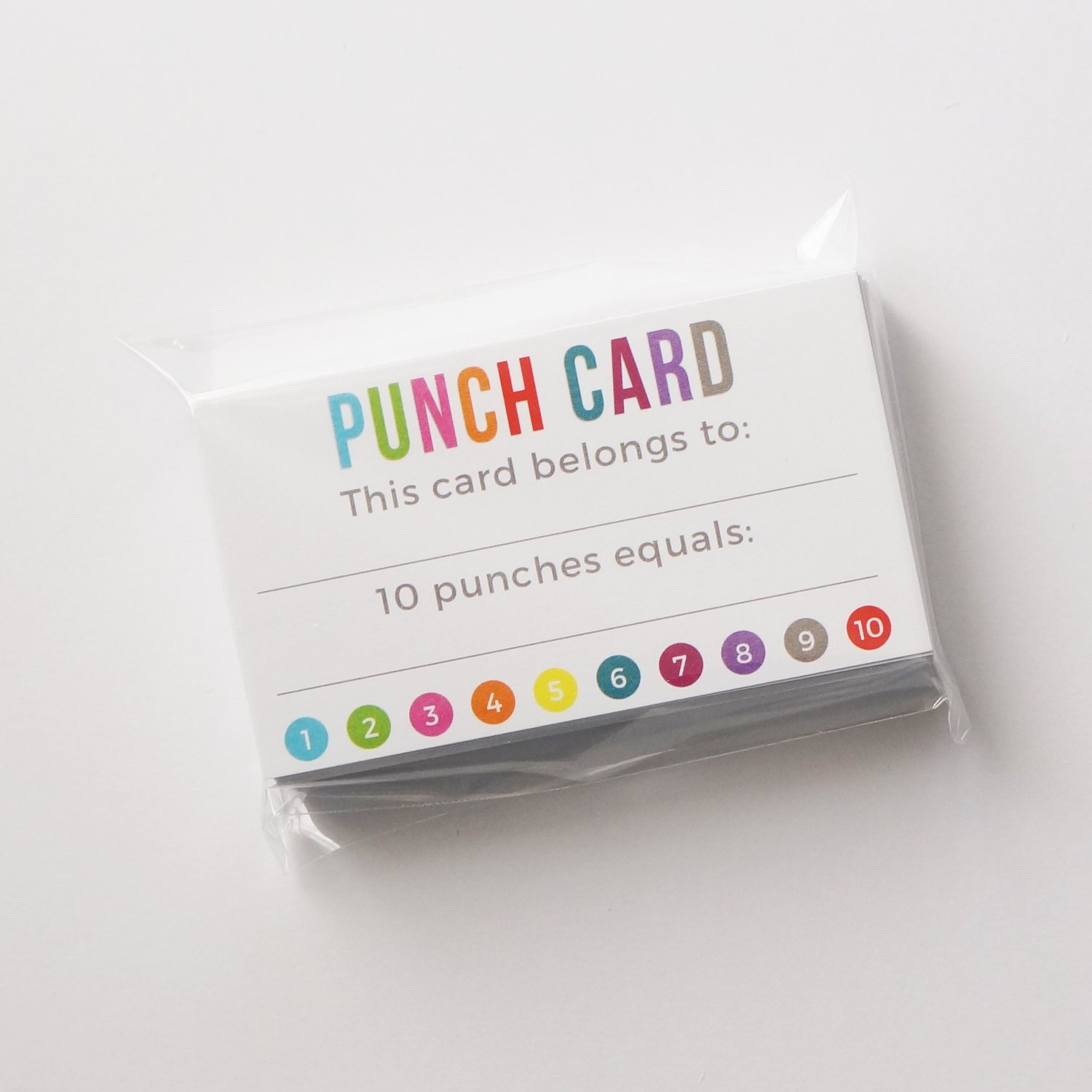 Punch Card - Incentive Loyalty Reward Cards - Business Card Size 3.5 ...