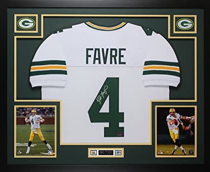 huge discount c788e 23abb Brett Favre Autographed White Green Bay Packers Jersey ...