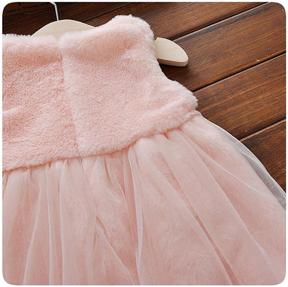Fashion Winter Newborn Girl Cartoon Bow Thick Warm Princess Dress Elevin TM
