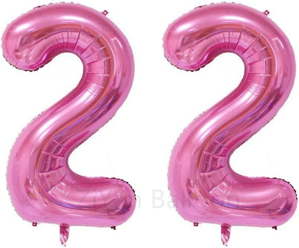 ZiYan 40 Inch Giant 22th Pink Number Balloons,Birthday/Party balloons