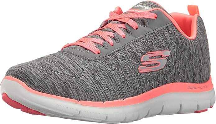 Skechers Flex Appeal 2.0 Sneakers Damen Grau/Rosa