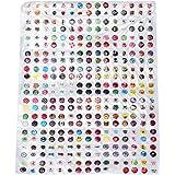 button sticker Elyseesen 330pcs Cartoon caoutchouc Accueil bouton autocollant pour iPhone 4 4 s 5 ipad 2 3
