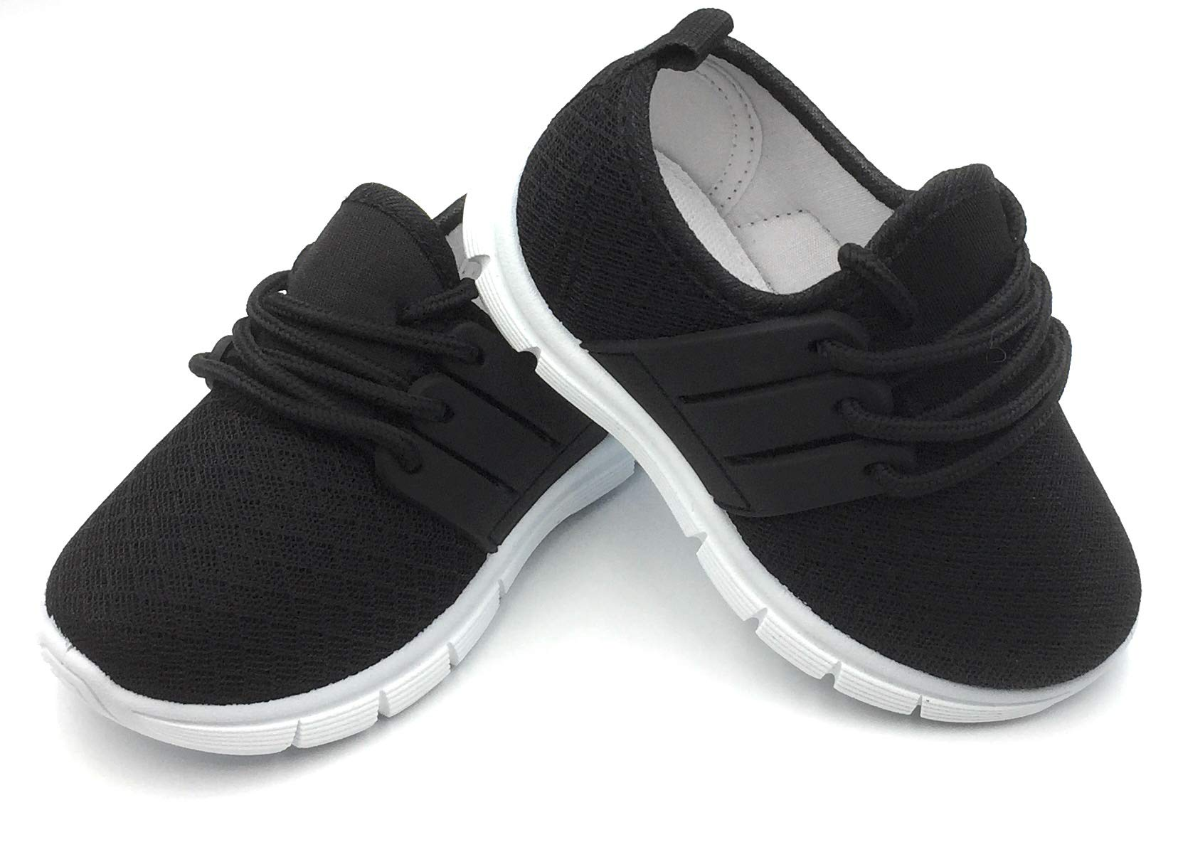Bless Children Baby Toddlers Boy's Girl's Breathable Fashion Sneakers Walking Running Shoes,Black502.Size 5