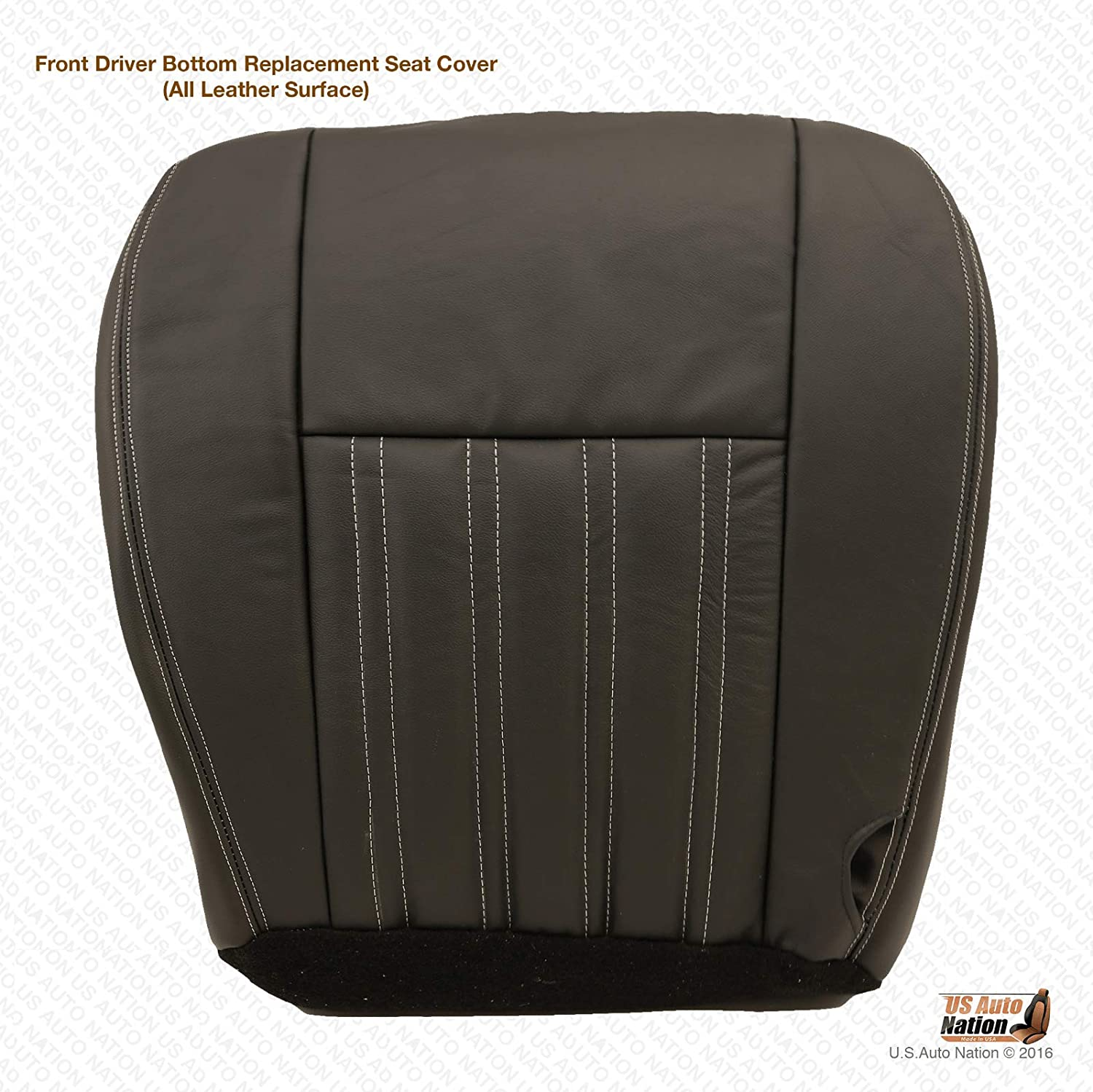2004 Ford F250 Harley-Davidson CrewCab Passenger Bottom Leather Seat Cover Black