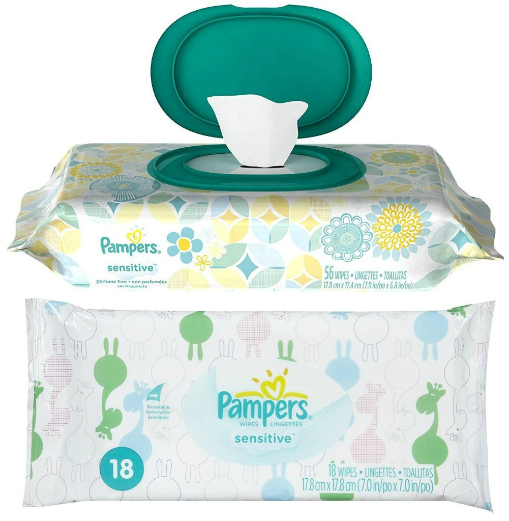 Amazon.com : Pampers Sensitive Wipes Pop Top (56 ct) + Travel Pack of 18 Extra Wipes : Baby