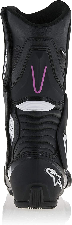 36 EU, Black White Fuchsia Stella Womens SMX-6 v2 Drystar Waterproof Motorcycle Boot