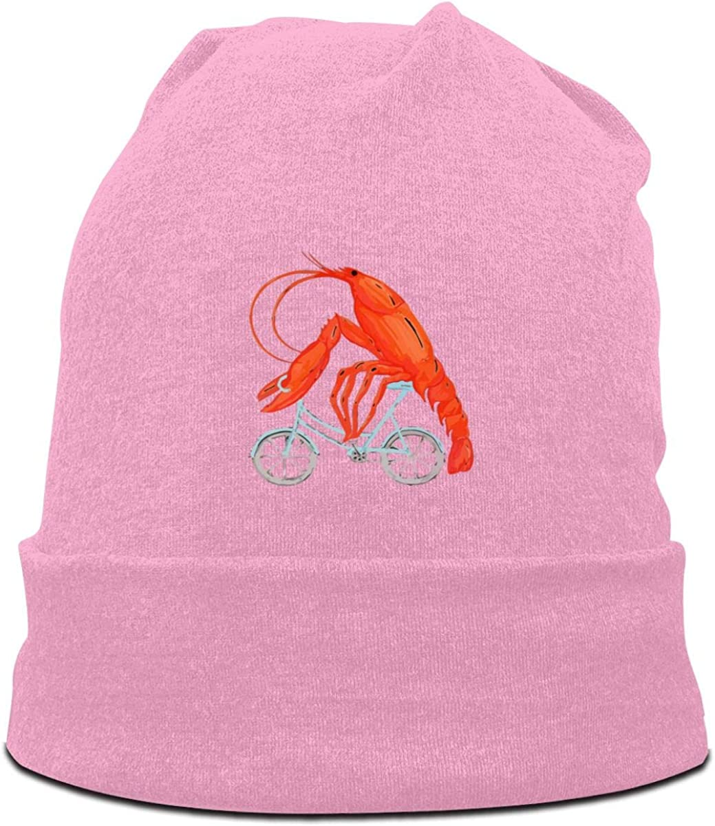 Lobster Bicycle Cycling Beanies Hats Stretchy Cap Mens Slouchy Cap