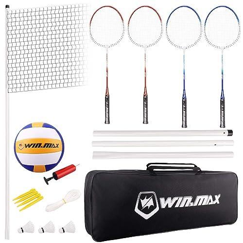 Winmax Badminton Volleyball Combo Set