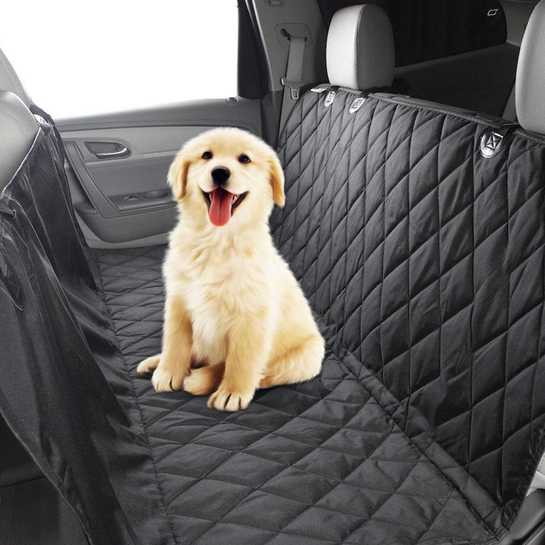 PUMPKIN Protector Impermeable de Asiento Trasero de Coche para Perros, Color Negro