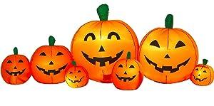 Airflowz Inflatable 8' Pumpkin Patch Inflatable Halloween Decoration Autumn Fall Harvest