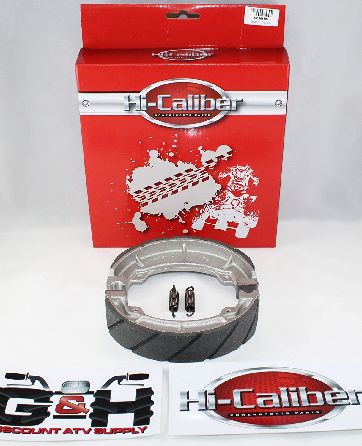 WATER GROOVED FRONT BRAKE SHOES & SPRINGS for the 85-87 Honda ATC 250 ES Big Red 250SX Hi-Caliber Powersports Parts