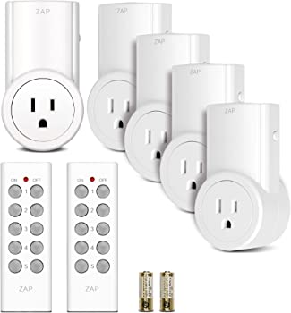 5-Pk. Etekcity Wireless RC Electrical Outlet Switch